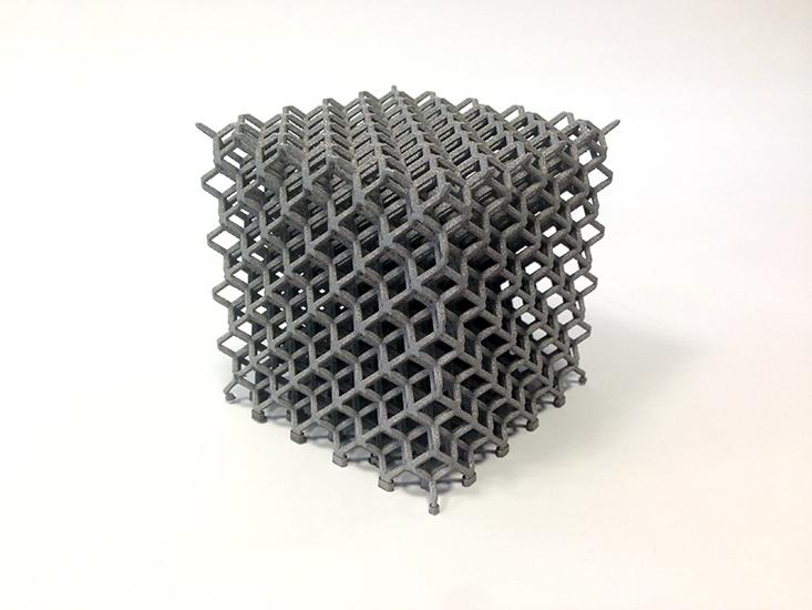 maillage 3D, frittage inox
