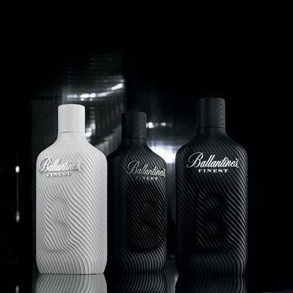 Design François BRUMENT- Stéréolithographie blanche et noir, chromage